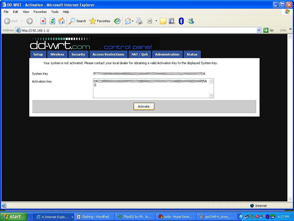 dd-wrt activation key generator
